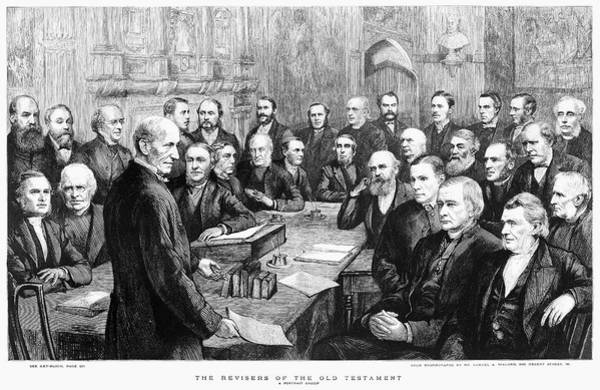 Wall Art - Painting - Bible Revisers, 1885 by Granger