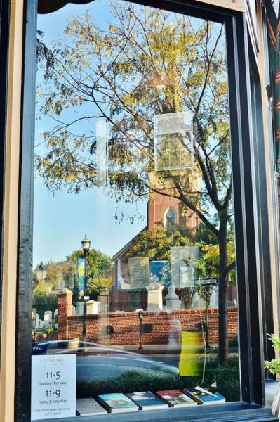 Photograph - Biblion Used Books Reflections 1 - St. Peter's Church In Lewes Delaware by Kim Bemis