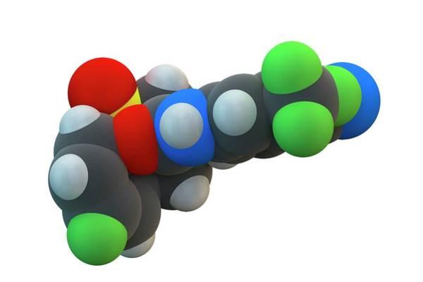 Molecular Wall Art - Photograph - Bicalutamide Cancer Drug Molecule by Ella Maru Studio / Science Photo Library