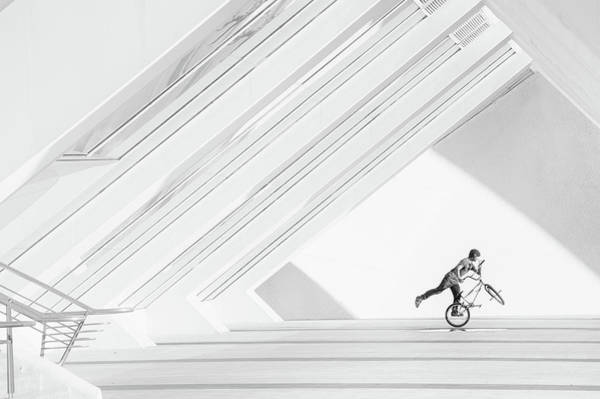 Ceiling Photograph - Bicycle Art by Piet Haaksma