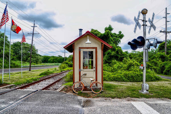 Wall Art - Photograph - Bicycle At Cold Point Station by Bill Cannon
