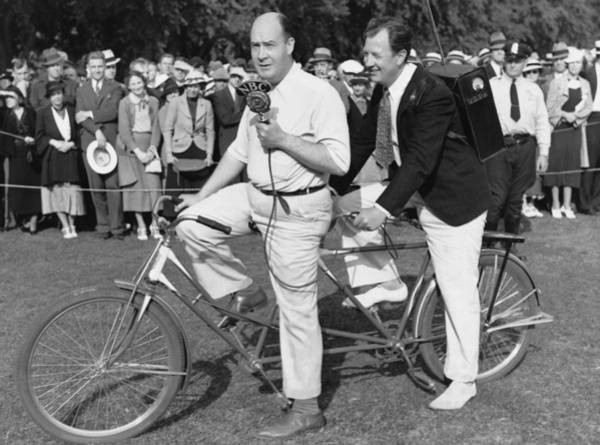 Nbc Photograph - Bicycle Broadcasting by Underwood Archives