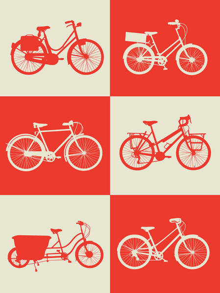 Wall Art - Digital Art - Bicycle Collection Poster 1 by Naxart Studio