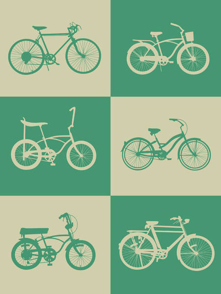 Wall Art - Digital Art - Bicycle Collection Poster 4 by Naxart Studio