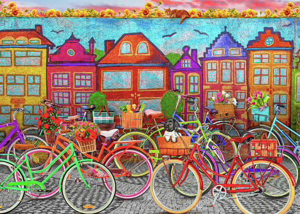Playful Painting - Bicycle Day by MGL Meiklejohn Graphics Licensing