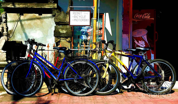 Photograph - Bicycle For Rent by Yew Kwang