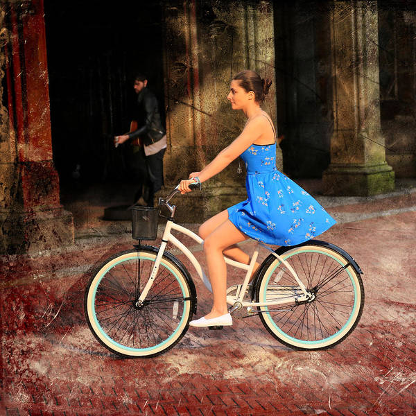 Photograph - Bicycle Girl 1c by Andrew Fare