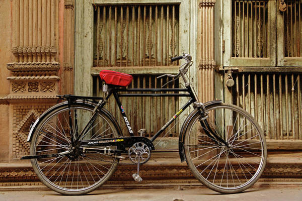 Gully Photograph - Bicycle In Narrow Gully, Delhi, India by Adam Jones