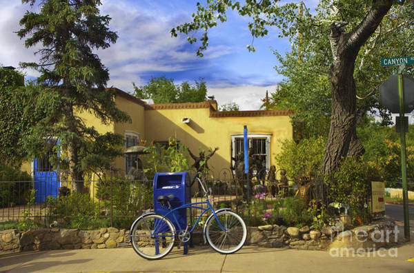 Houses Wall Art - Photograph - Bicycle In Santa Fe by Madeline Ellis