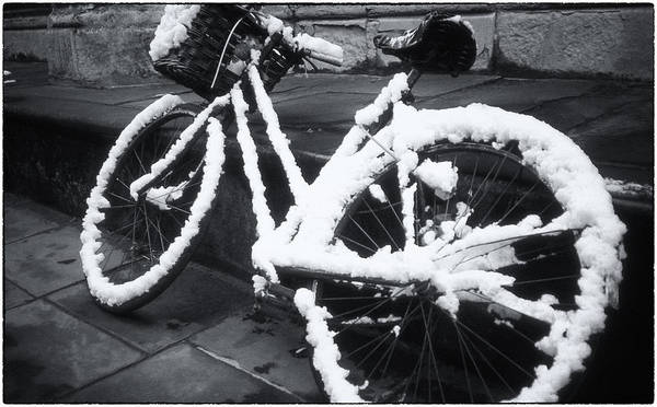 Photograph - Bicycle In Snow by Joan Carroll