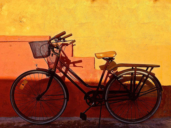 Bike Photograph - Bicycle Isla Mujeres by Andrew Wohl