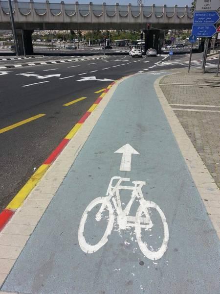 Israeli Photograph - Bicycle Lane In Jerusalem by Photostock-israel