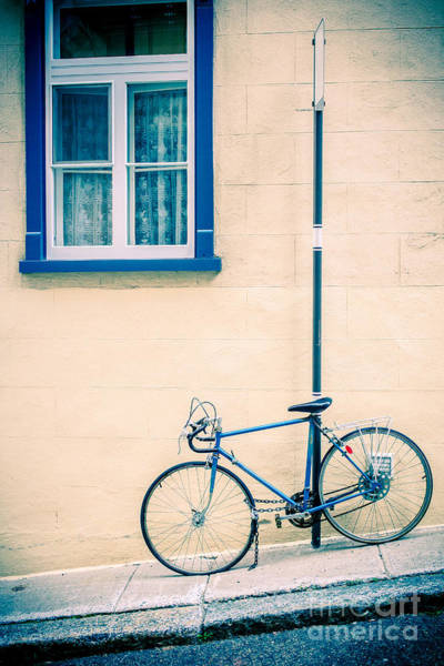 Bike Photograph - Bicycle On The Streets Of Old Quebec City by Edward Fielding