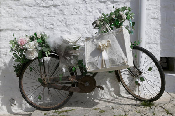 Wall Art - Photograph - Bicycle Parked Against A Wall, Trulli by Panoramic Images
