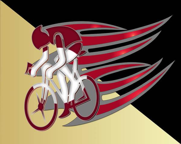 Digital Art - Bicycle Rider Series 01 by Carlos Diaz