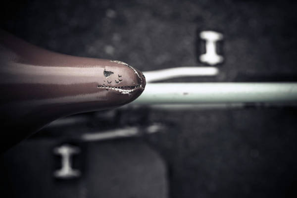 Bicycle Photograph - Bicycle Seat From Above by Paolomartinezphotography