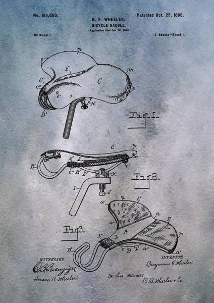 Digital Art - Bicycle Seat Patent by Dan Sproul