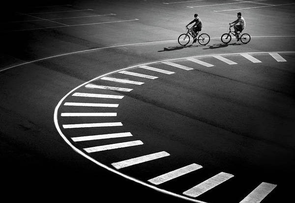 Street Photograph - Bicycle Track by Marc Apers