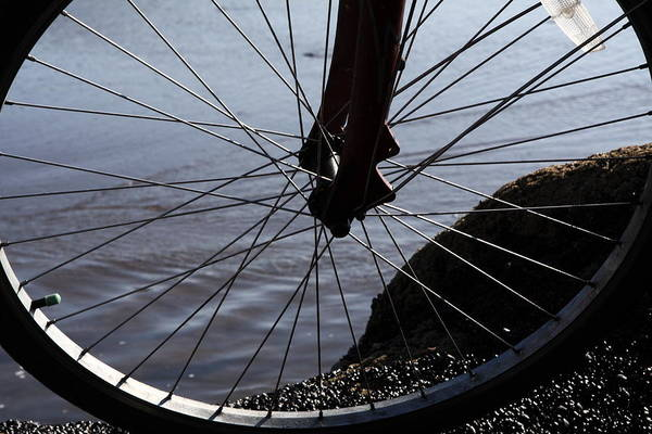 Photograph - Bicycle Wheel  by Aidan Moran