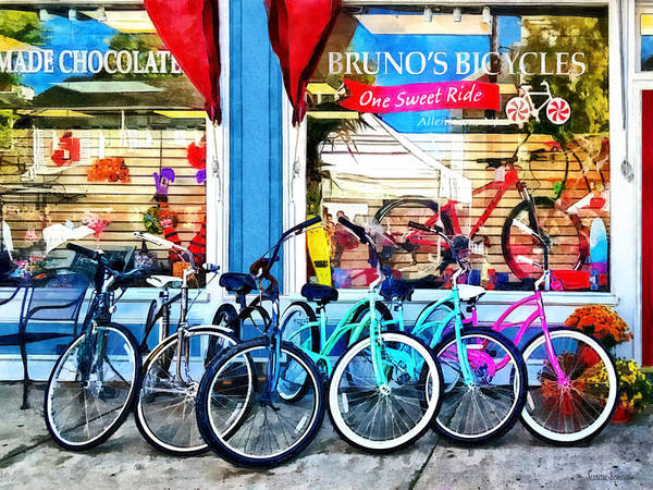 Photograph - Bicycles And Chocolate by Susan Savad