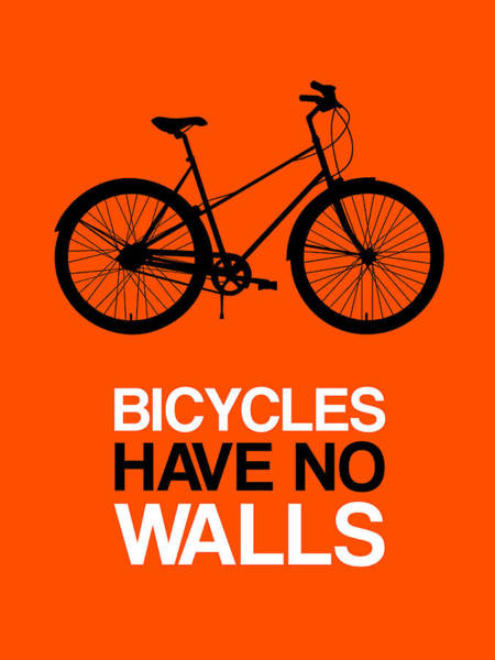 Wall Art - Digital Art - Bicycles Have No Walls Poster 1 by Naxart Studio
