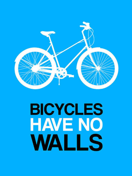 Wall Art - Digital Art - Bicycles Have No Walls Poster 2 by Naxart Studio