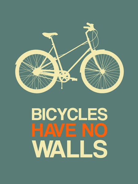 Wall Art - Digital Art - Bicycles Have No Walls Poster 3 by Naxart Studio
