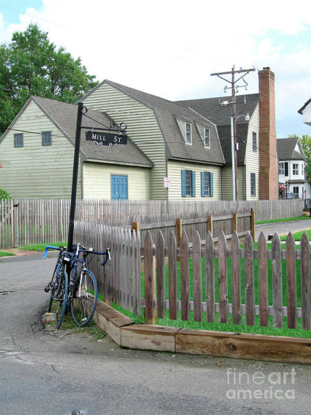 Photograph - Bicycles On Side Street At Saint Michaels In Maryland by William Kuta