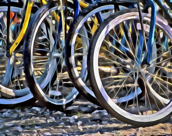 Digital Art - Bicycles by Patrick M Lynch