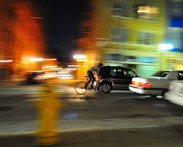 Otr Wall Art - Photograph - Bicyclist by Wesley Shade