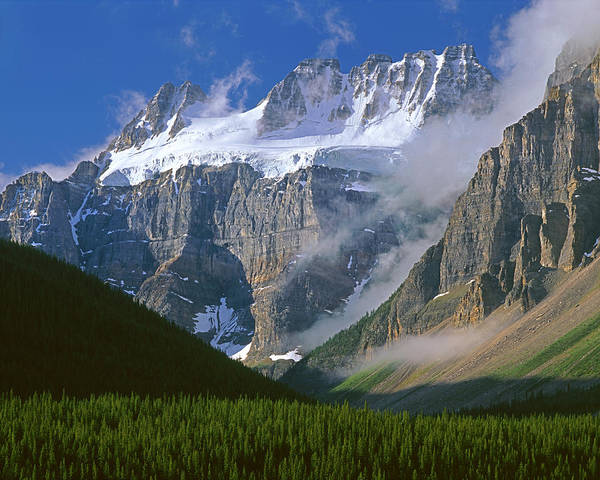 Photograph - 1m3440-bident Mountain And Quadra Mountain by Ed  Cooper Photography