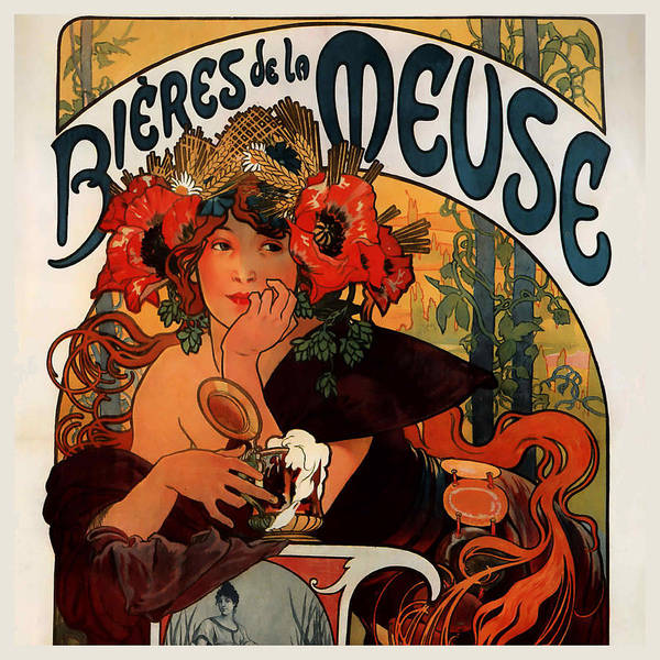 Alphonse Mucha Painting - Bieres De La Meuse Poster by Philip Ralley