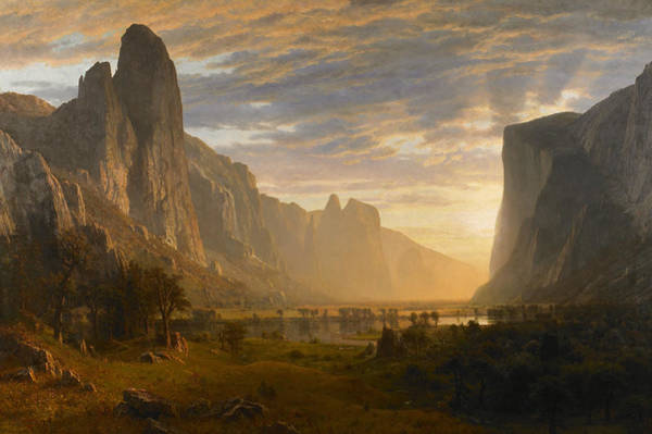 Wall Art - Painting - Bierstadt Yosemite Valley, 1865 by Granger