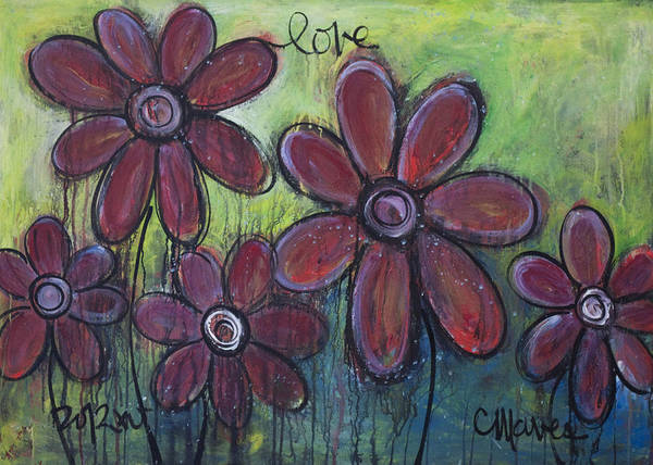 Painting - Big And Bright Daisies by Laurie Maves ART
