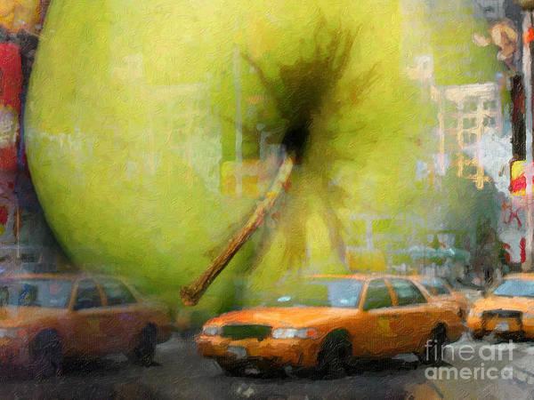Painting - Big Apple by Lutz Baar