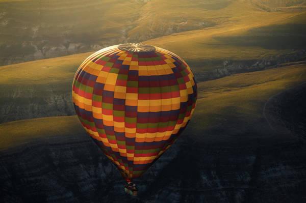 Cappadocia Photograph - Big Balloon Over Cappadocia by Coolbiere Photograph
