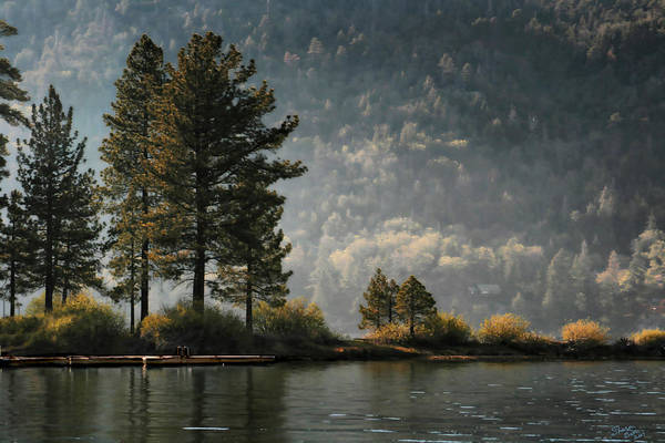 Digital Art - Big Bear Lake Scenic by Sharon Beth