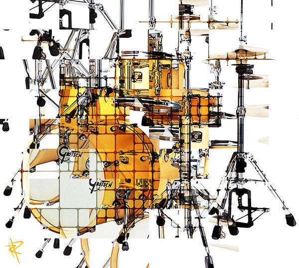 Wall Art - Mixed Media - Big Beats by Russell Pierce