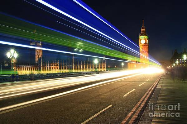 Photograph - Big Ben And A Bus by Jeremy Hayden