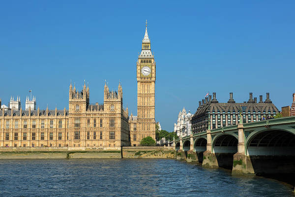 The Clock Tower Photograph - Big Ben And Britains Houses Of by Sylvain Sonnet