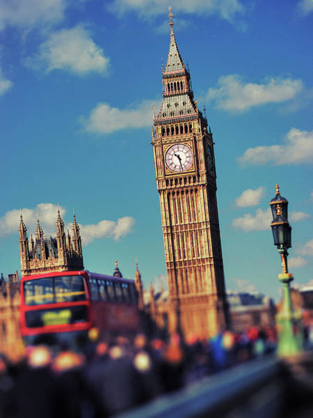 The Clock Tower Photograph - Big Ben And Commuter Traffic by Doug Armand