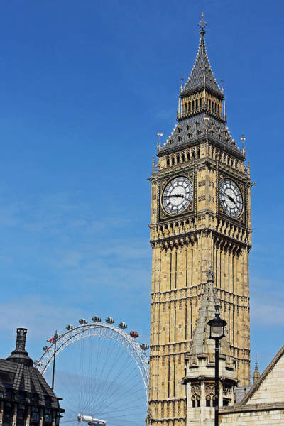 Big Ben And London Eye Art Print
