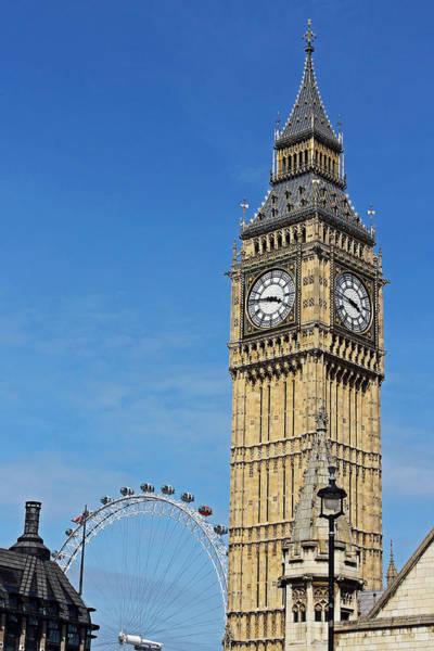 Photograph - Big Ben And London Eye by Tony Murtagh