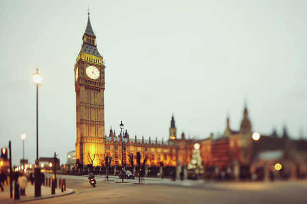 The Clock Tower Photograph - Big Ben And The Parliament by Rafael Elias