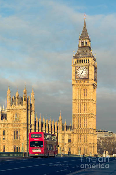Photograph - Big Ben And Westminster Bridge I by Clarence Holmes