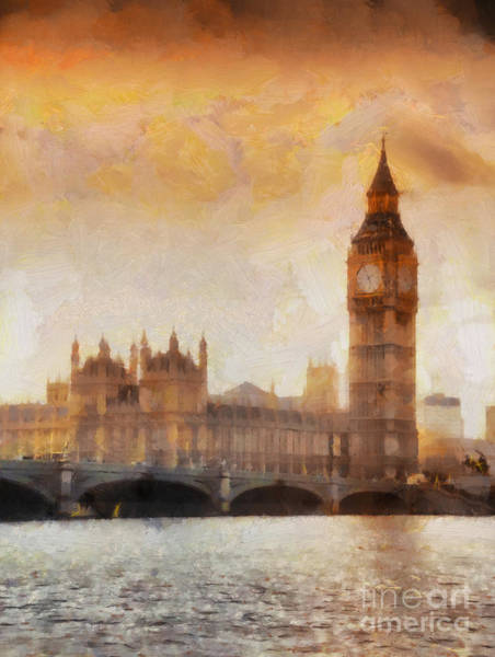 Big Ben At Dusk Art Print