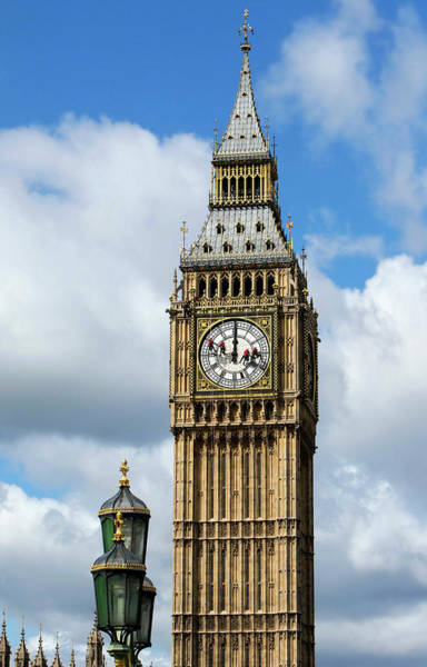 Elizabeth Tower Wall Art - Photograph - Big Ben Clock Tower And Cleaning by Mark Thomas