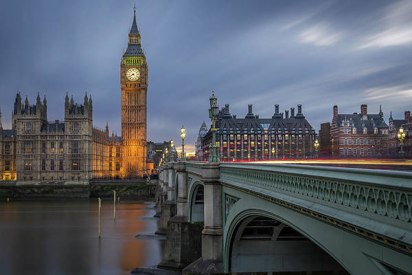 Westminster Bridge Photograph - Big Ben by Costas Economou