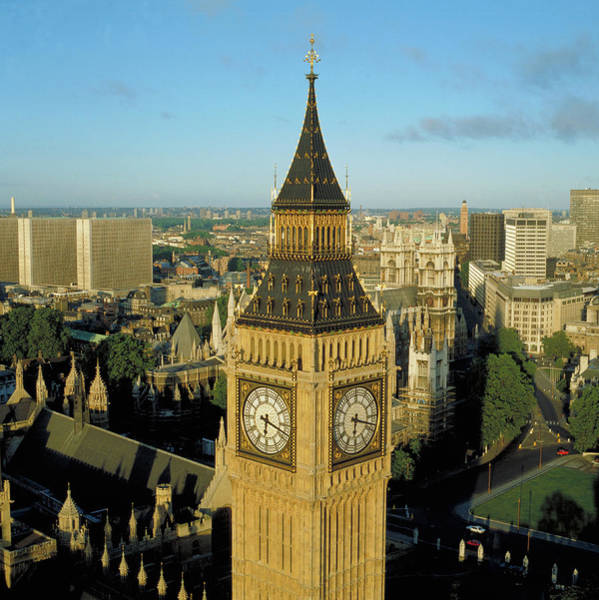 Houses Of Parliament Photograph - Big Ben by Skyscan/science Photo Library