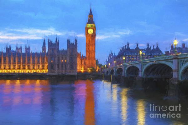 Westminster Painting - Big Ben by Veikko Suikkanen